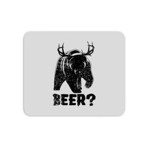 Beer Bear Deer Mouse Mat