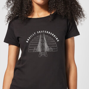 Braille Skateboarding Limited Edition Bridge Sunset Women's T-Shirt - Black