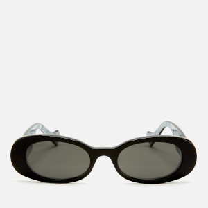Gucci Women's Oval Frame Acetate Sunglasses - Black/Grey