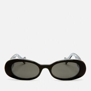 Gucci Women's Oval Frame Acetate Sunglasses - Black/Grey