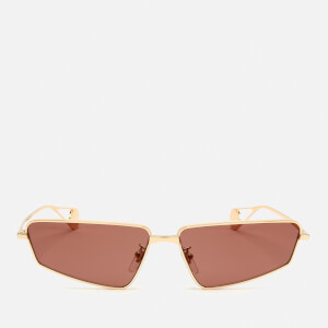 Gucci Women's Small Frame Metal Sunglasses - Gold/Red