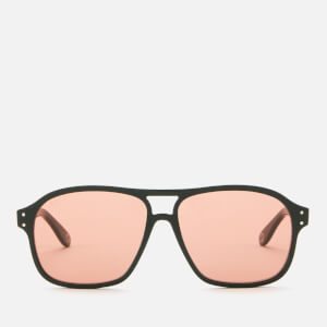 Gucci Men's Aviator Style Sunglasses - Green/Red