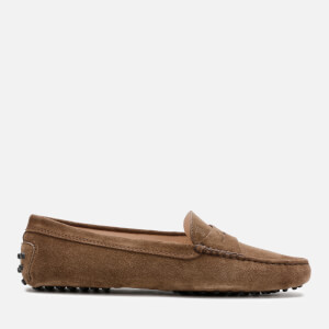 Tod's Women's Suede Gommini Loafers - Brown