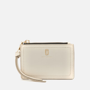 Marc Jacobs Women's Top Zip Multi Wallet - Cream