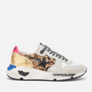 Golden Goose Deluxe Brand Women's Running Sole Trainers - Oxy Leopard/Black Star