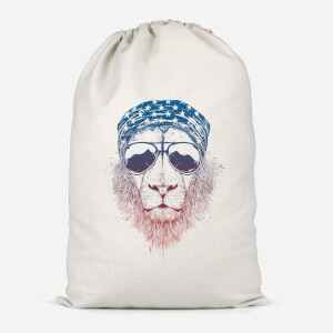 Bandana Lion Cotton Storage Bag