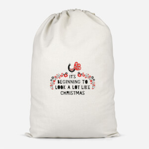 It's Beginning To Look A Lot Like Christmas Cotton Storage Bag