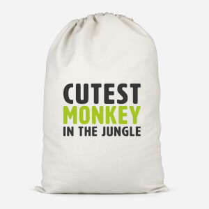Cutest Monkey In The Jungle Cotton Storage Bag