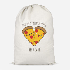 A Pizza My Heart Cotton Storage Bag