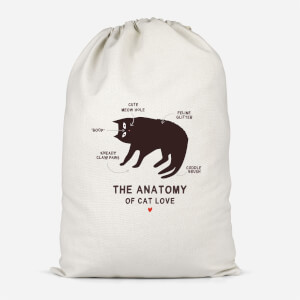 The Anatomy Of Cat Love Cotton Storage Bag