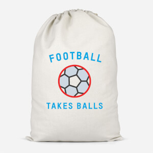 Football Takes Balls Cotton Storage Bag