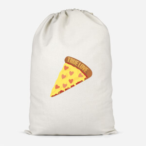 True Love Pizza Cotton Storage Bag