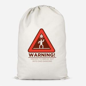 Warning Dad Dancing Cotton Storage Bag