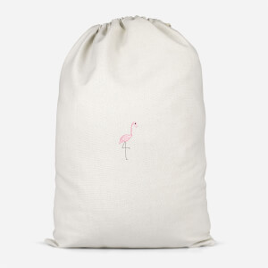 Flamingo Skeleton Cotton Storage Bag