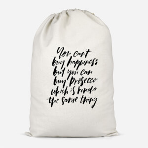 You Can't Buy Happiness Cotton Storage Bag