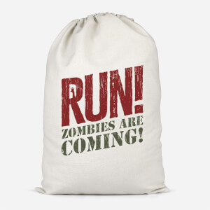 RUN! Zombies Are Coming! Cotton Storage Bag