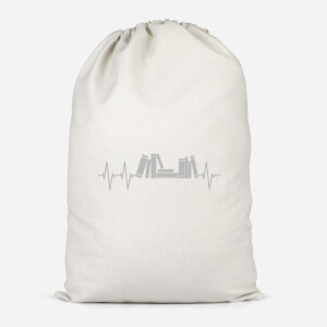Heartbeat Books Cotton Storage Bag