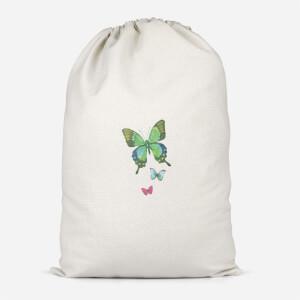 Pocket Butterflies Cotton Storage Bag