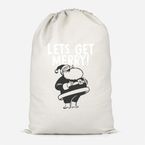 Lets Be Merry Cotton Storage Bag