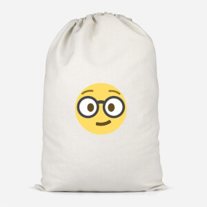 Nerd Face Cotton Storage Bag