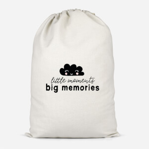 Little Moments Big Memories Cotton Storage Bag