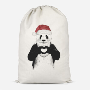 Santa Bear Cotton Storage Bag
