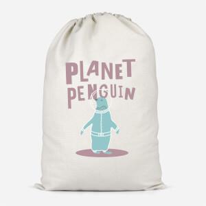 Planet Penguin Cotton Storage Bag
