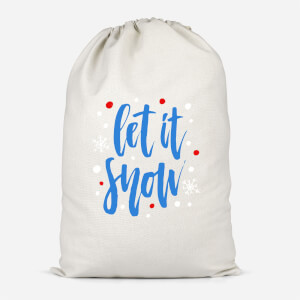 Let It Snow Cotton Storage Bag