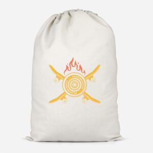 Skateboards On Fire Cotton Storage Bag