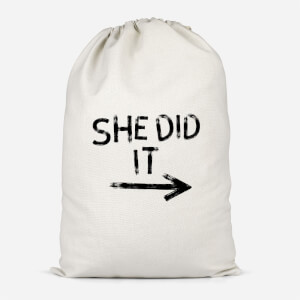 She Did It Cotton Storage Bag