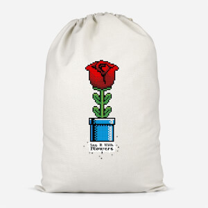 Say It With Flowers Cotton Storage Bag