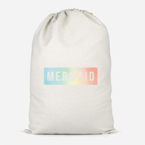 Mermaid - Baby Blue Cotton Storage Bag