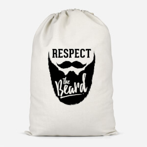 Respect The Beard Cotton Storage Bag