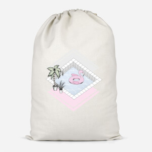 Flamingos Paradise Cotton Storage Bag