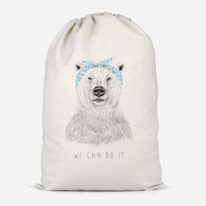 We Can Do It Cotton Storage Bag