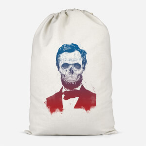 Suited And Booted Skull Cotton Storage Bag