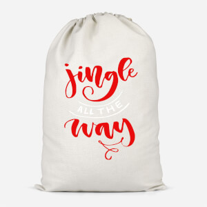 Jingle All The Way Cotton Storage Bag
