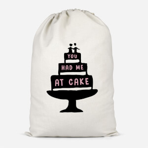 You Had Me At Cake Cotton Storage Bag