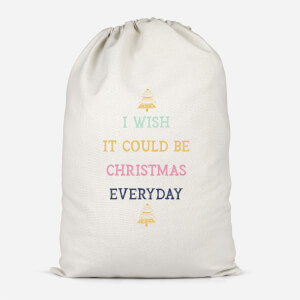 I Wish It Could Be Christmas Everyday Cotton Storage Bag
