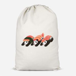 Panda Sushi Cotton Storage Bag