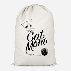 Cat Mom Cotton Storage Bag