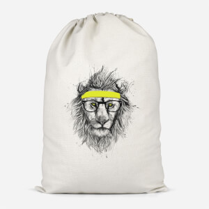 Lion And Sweatband Cotton Storage Bag