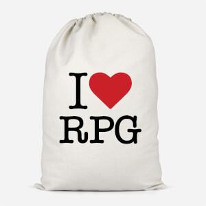 I Love RPG Cotton Storage Bag