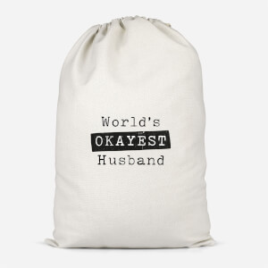 World's Okayest Husband Cotton Storage Bag