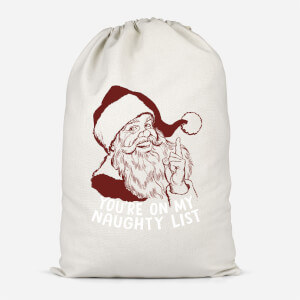 You're On My Naughty List Cotton Storage Bag
