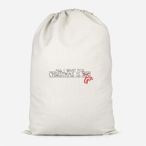 All I Want For Christmas Is Gin Cotton Storage Bag