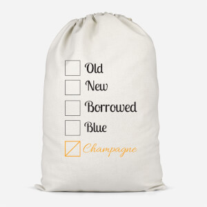 Champagne Tick Box Cotton Storage Bag