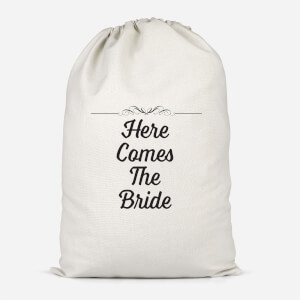 Here Comes The Bride Cotton Storage Bag