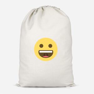 Big Smile Face Cotton Storage Bag