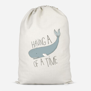Having A Whale Of A Time Cotton Storage Bag